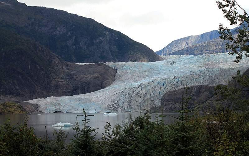 The Mendenhall Glacier in Alaska