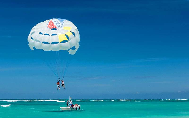 Parasailing in the Southern Caribbean