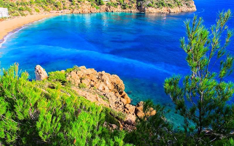 small bay in Ibiza Spain Mediterranean Oceania