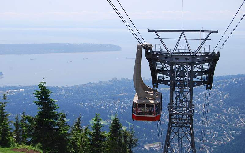 Gondola Ride Grouse Mountain Oceania Cruise Alaska