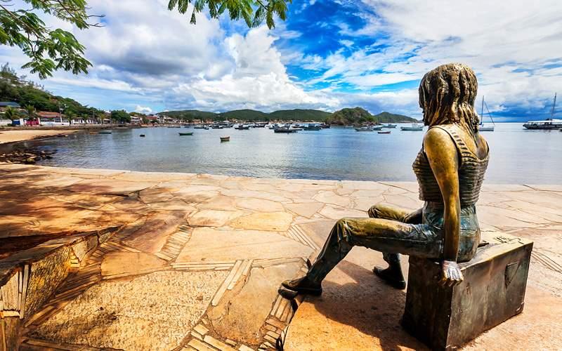 Brigitte Bardot in Buzios harbor, Brazil Oceania