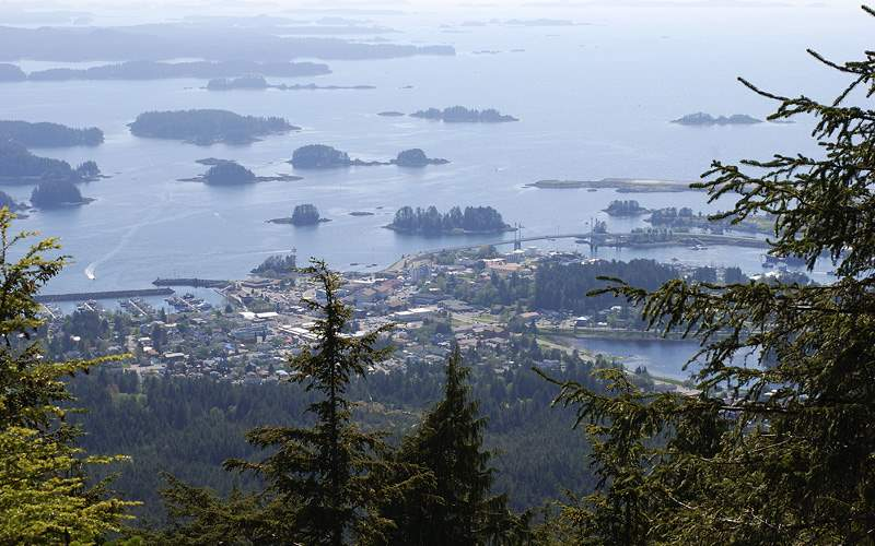 Sitka from Gavan Hill Alaska Oceania Cruises