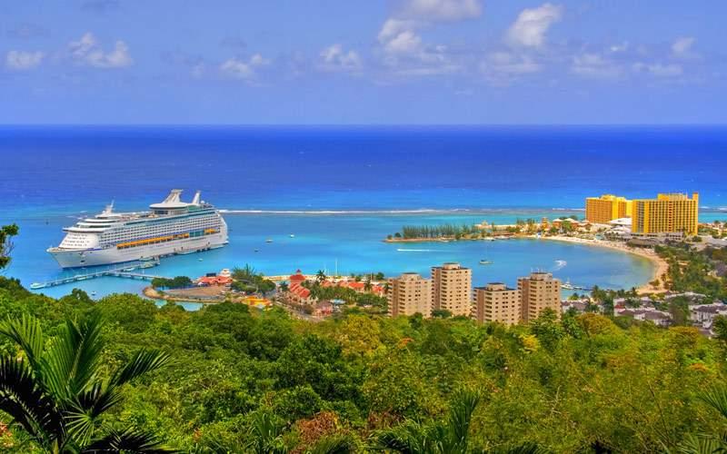 Ochos Rios port town Jamaica
