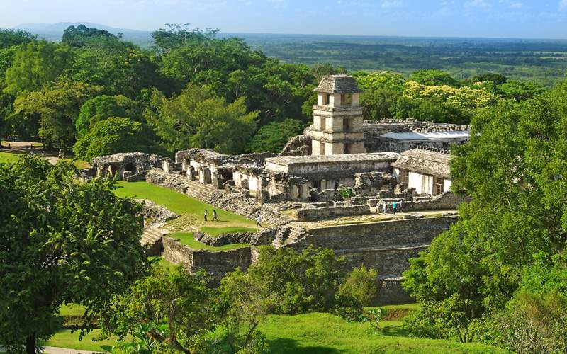 Palenque City Mayan Ruins in Mexico