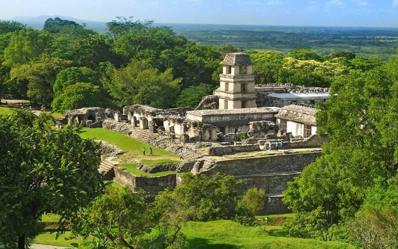 Palenque City Mayan Ruins in Mexico