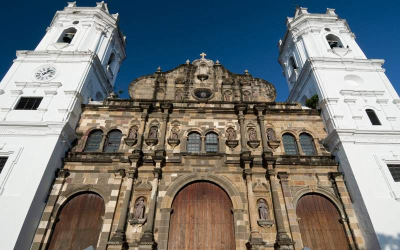 Panama Cathedral Sal Felipe old quarter UNESCO