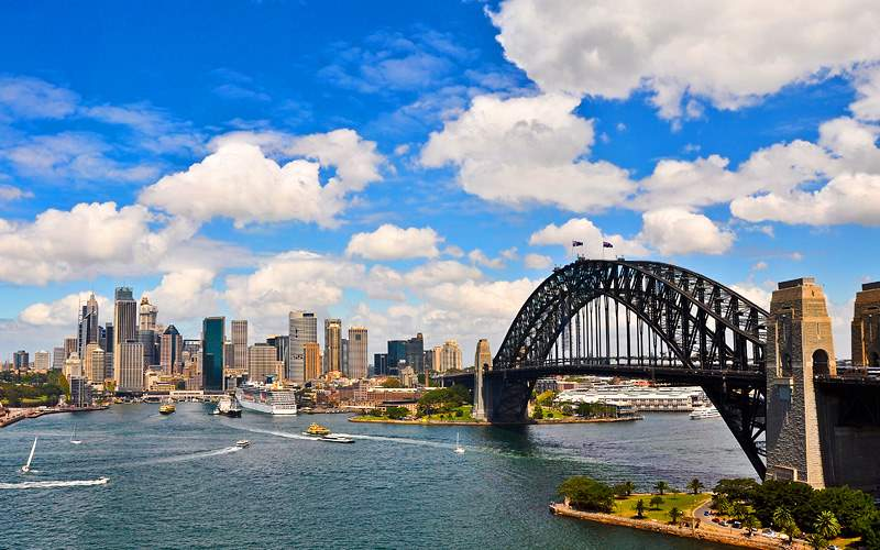 Panorama of Sydney Harbour in Australia