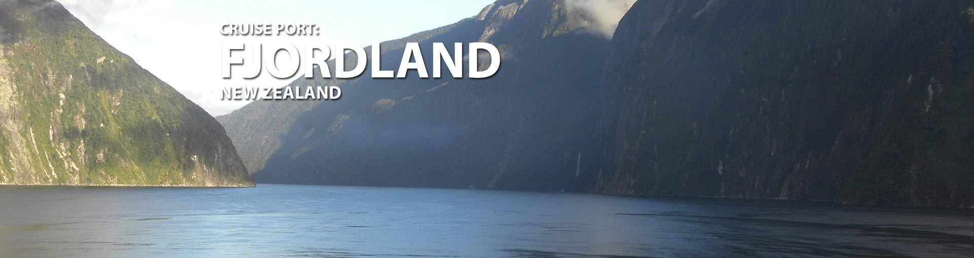 Fjordland, New Zealand Cruise Port