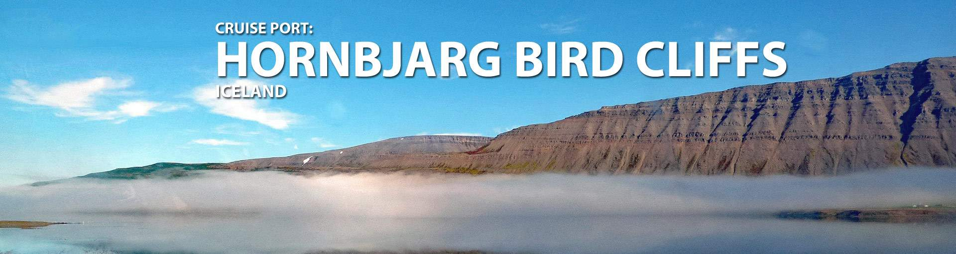 Hornbjarg Bird Cliffs, Iceland Cruise Port