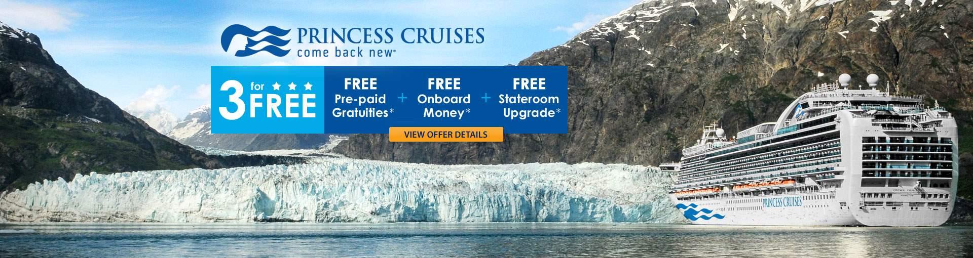 Princes Cruises: 3 for FREE Sale