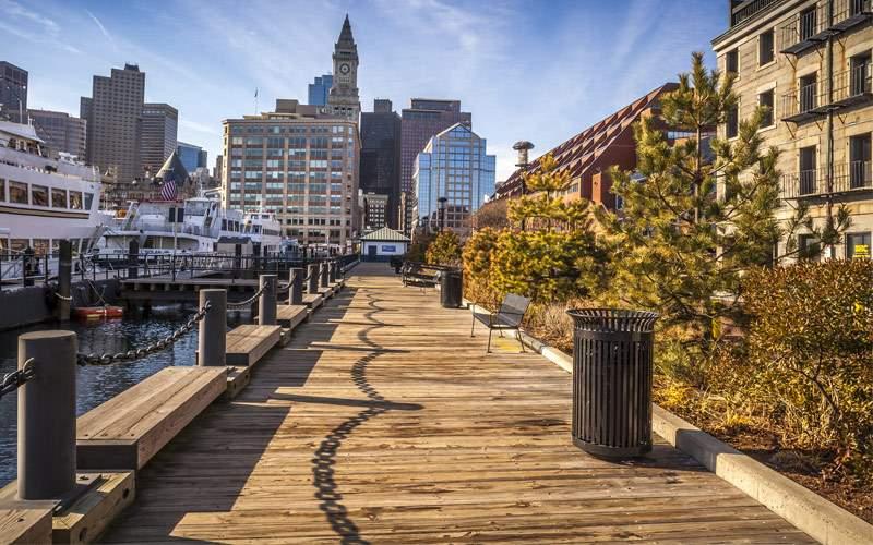 Boston harbor & Financial District Princess Canada