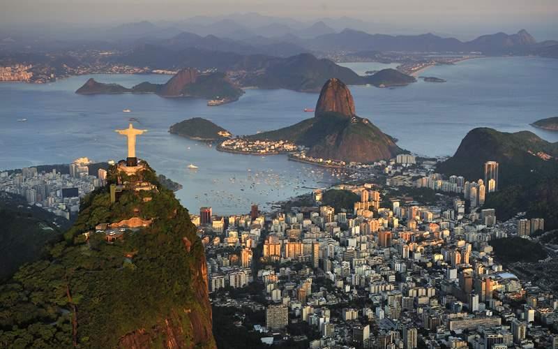 An aeriel view of Rio de Janiero, Brazil