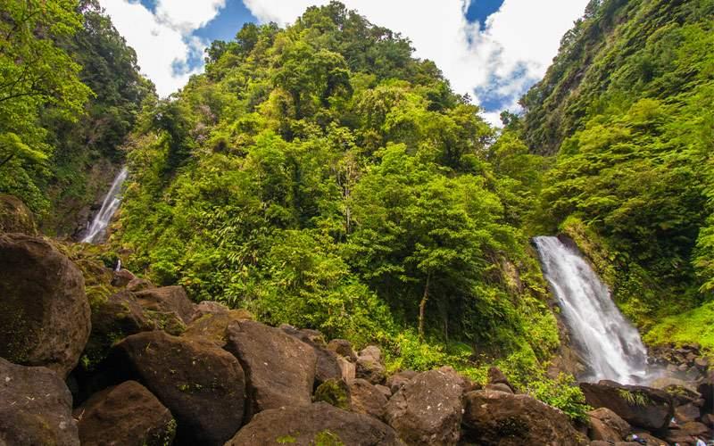 Waterfall in Dominica Princess Cruises Caribbean