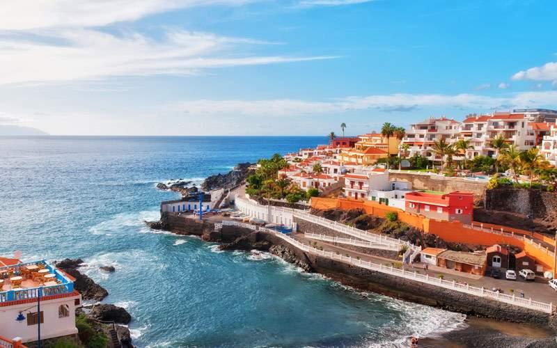 Puerto Santiago Tenerife in the Spanish Canary Isl