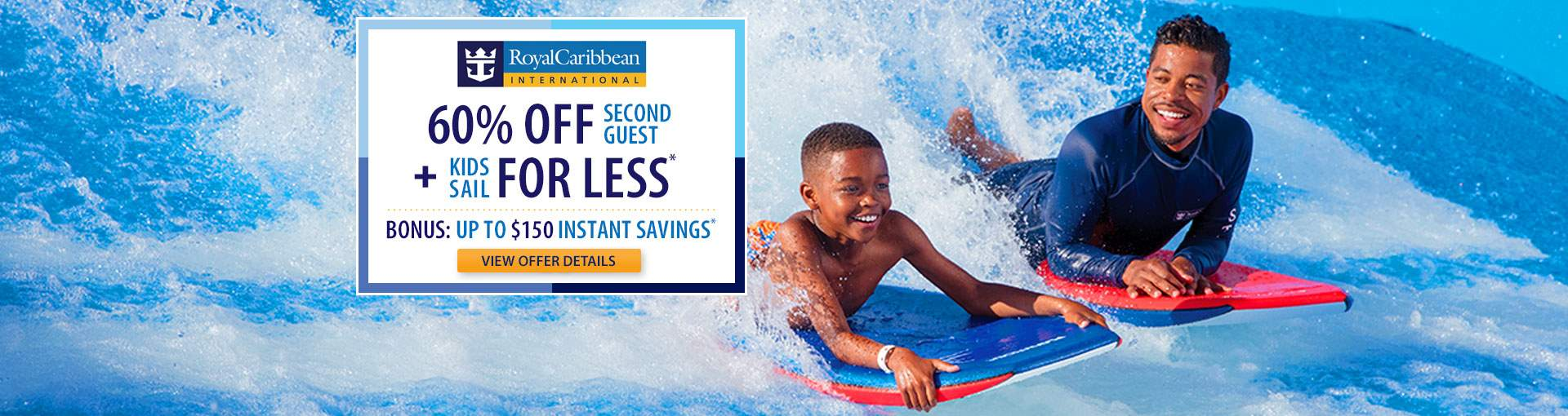 Royal Caribbean: 60% Off 2nd Guest