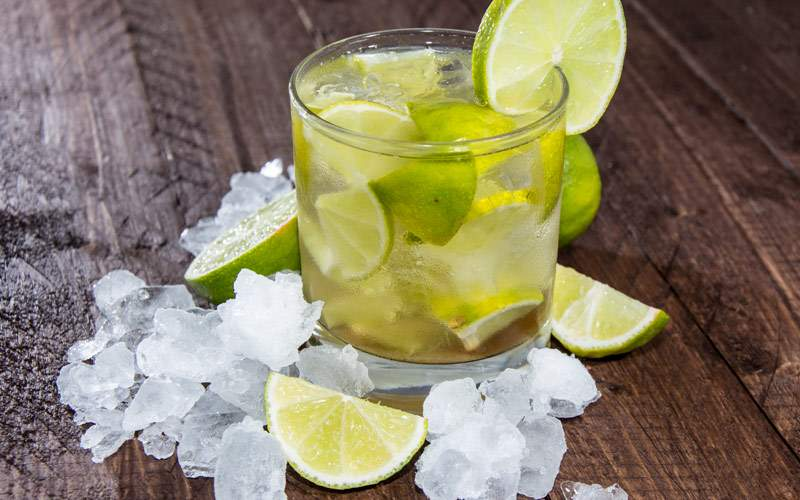 Glass of Caipirinha South America Regent Seven Sea