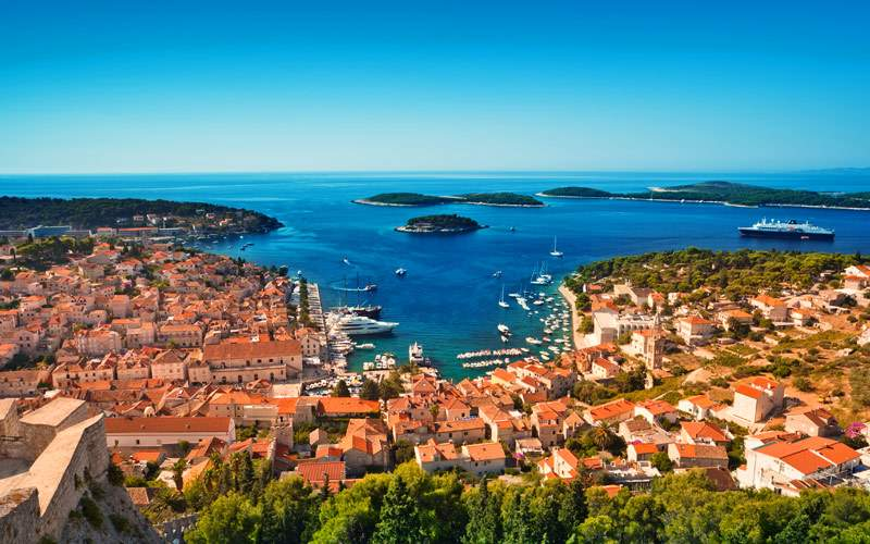 Adriatic island town Hvar Regent Seven Seas Europe