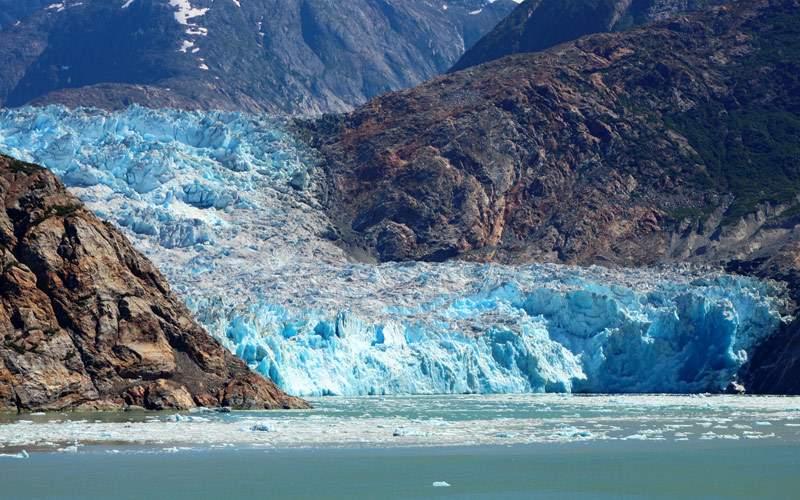 Sawyer Glacier Tracy Arm Fjord Alaska Regent Cruis