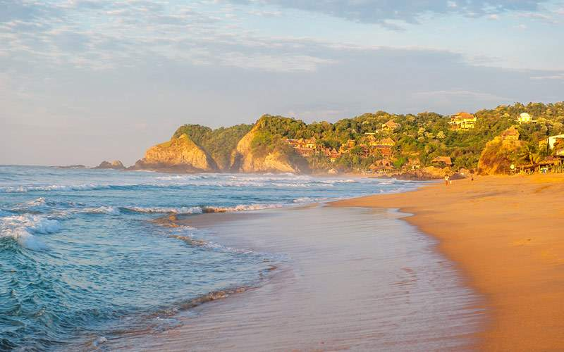 Zipolite beach Mexico Panama Canal Regent Seven Se