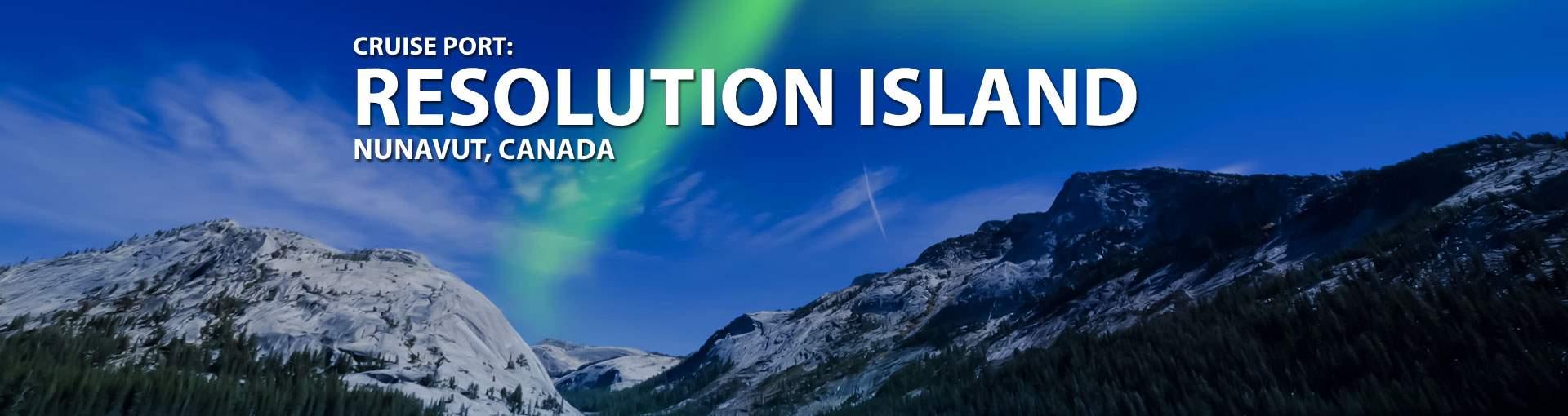 Cruises to Resolution Island, Nunavut, Canada