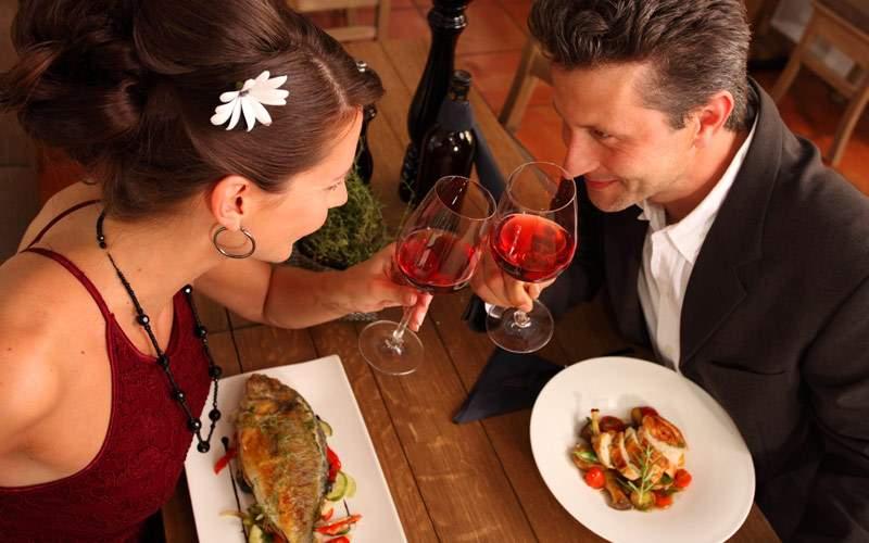 Romantic gourmet dinner for two