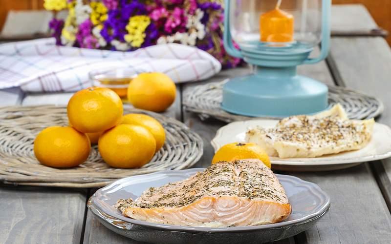 An Alaskan salmon bake