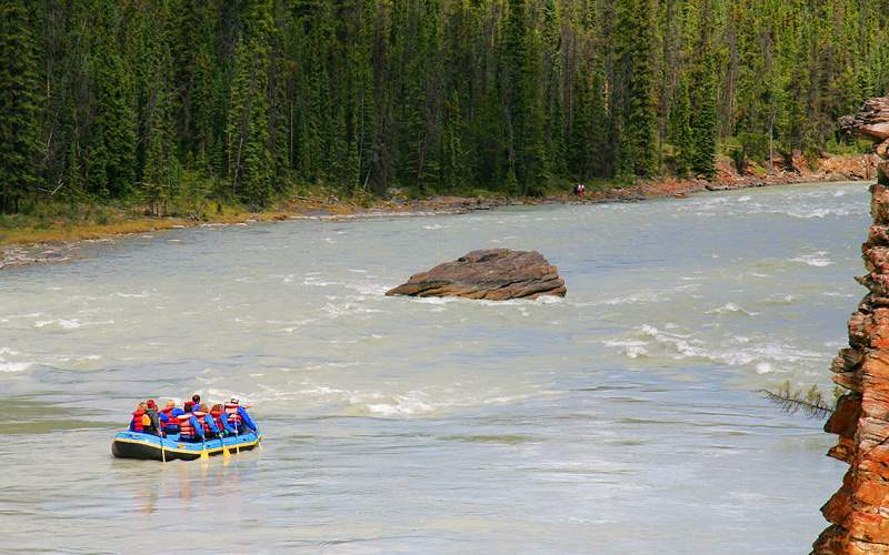 White water rafting in Alaska