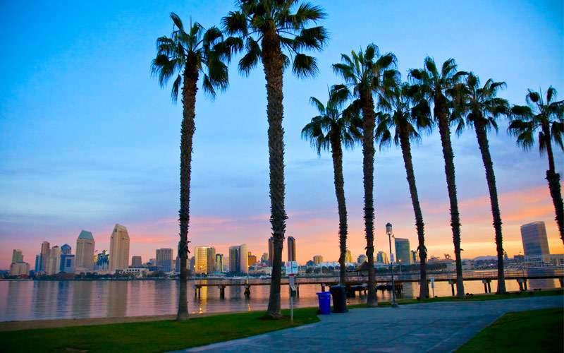 San Diego from Ferry Landing in Coronado