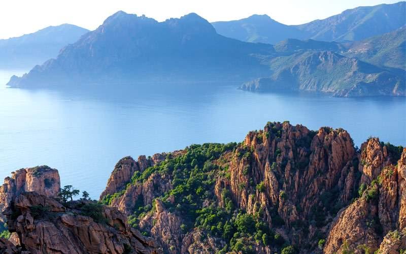 Corsica island coastline Calanche Sesaburn Europe