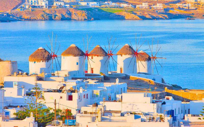 Greece Mykonos windmills Seabourn Mediterranean