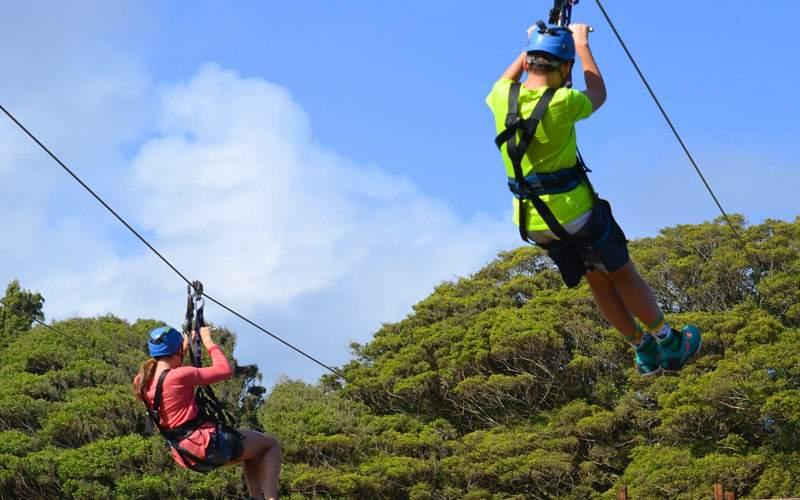 Ziplining in San Juan