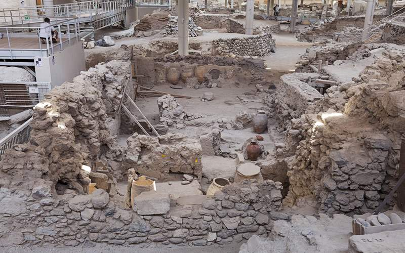 Akrotiri excavation site Santorini Silversea Europ