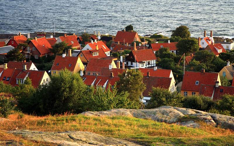 Town in Gudhjem Bornholm Denmark Silversea Europe