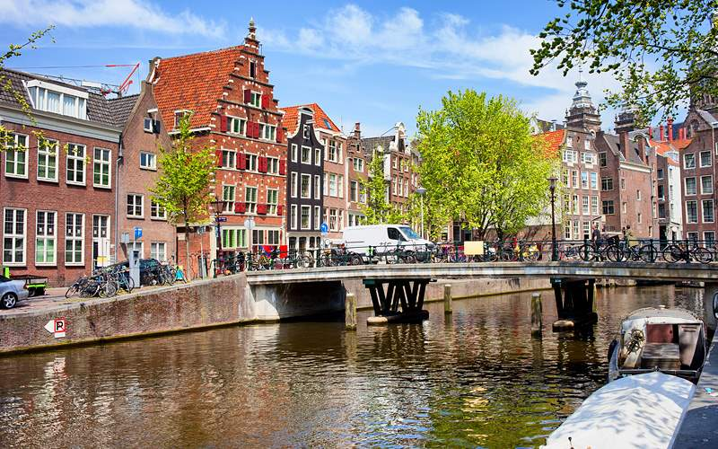 Canal in Amsterdam Silversea Northern Europe