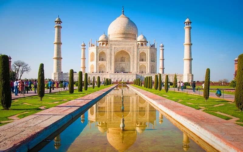 Taj Mahal in Agra, India Silversea World Cruise