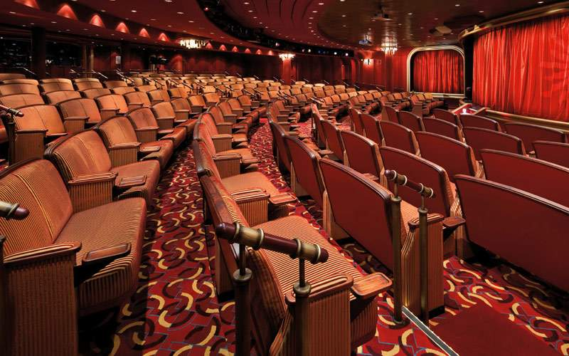 Enjoy live entertainment in the theatre