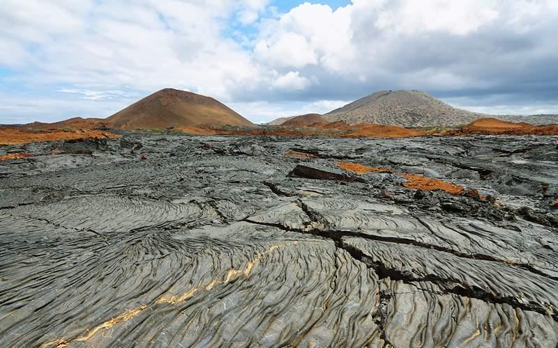 Volcanic landscape Santiago Galapagos Silversea