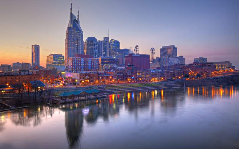 Skyline of Nashville, Tennessee