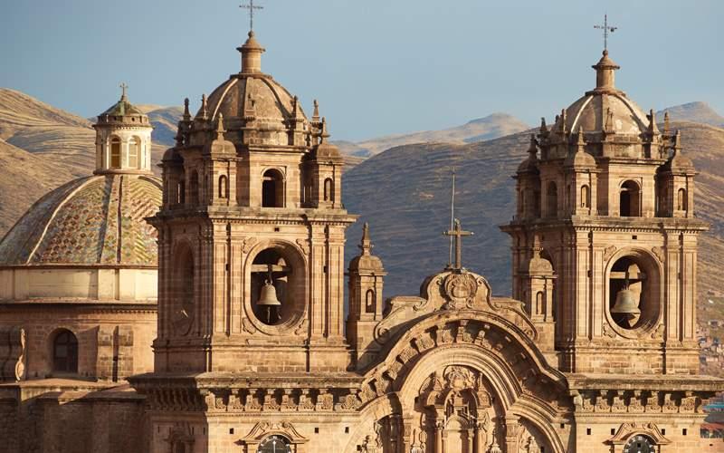 Twin towers of the Iglesia de la Compania, Cusco