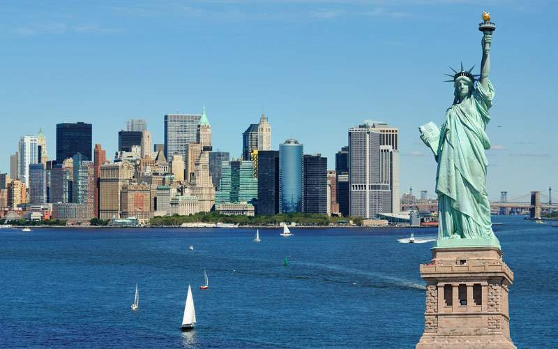Statue of Liberty and the New York City skyline