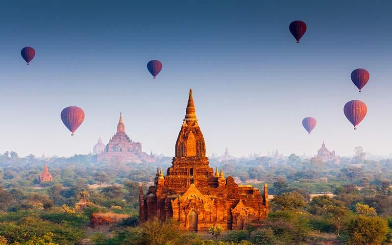 Temples in Began Myanmar