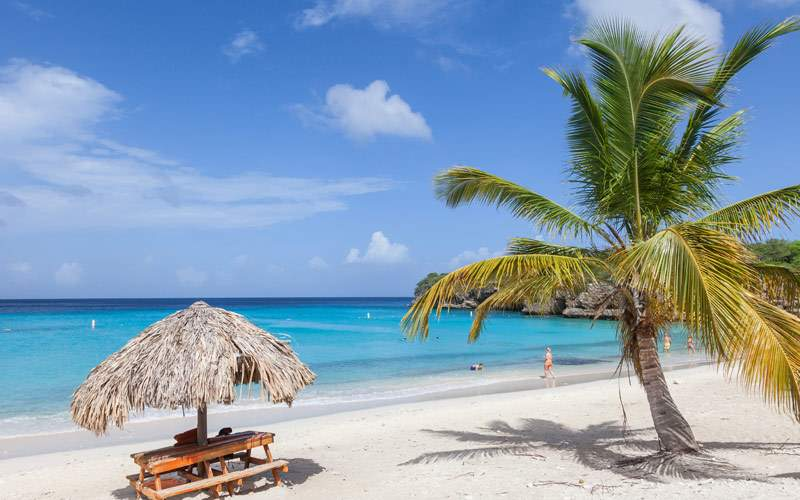 The beautiful Grande Knip Beach on the Island of C