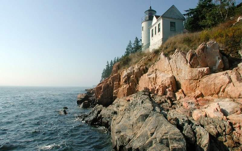 The lighthouse at Acadia National Park Bar Harbor