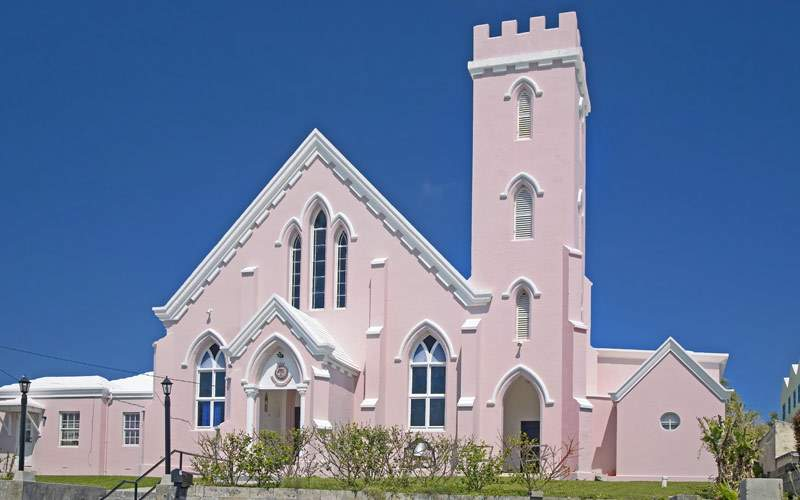 The Pink Salvation Army Church in St. George