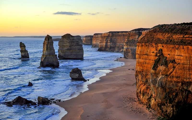 Sunset over the Twelve Apostles Victoria Australia