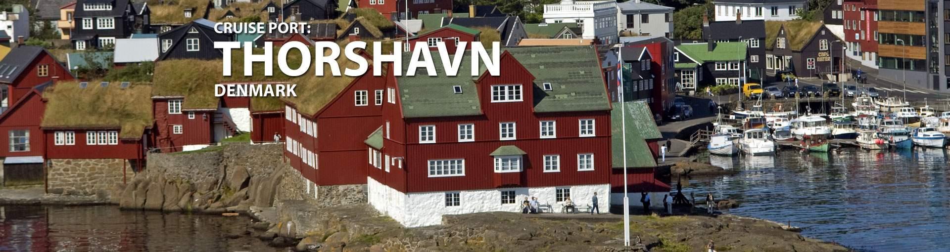Cruises to Thorshavn, Denmark
