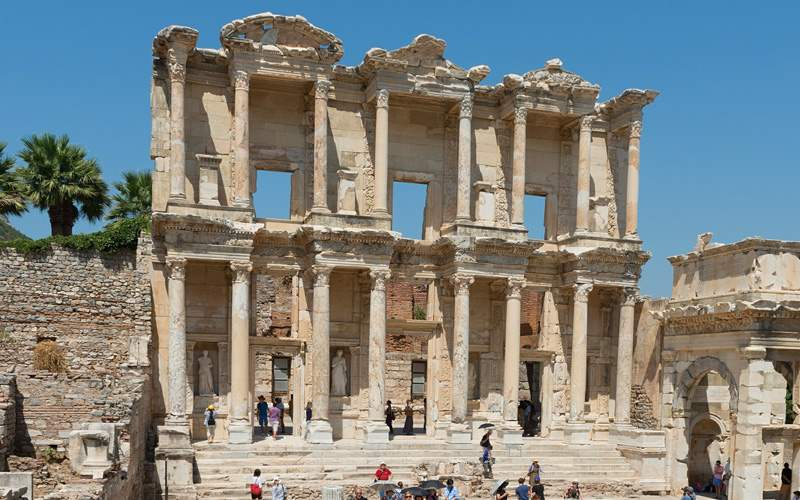 Ancient Library in Ephesus, Turkey