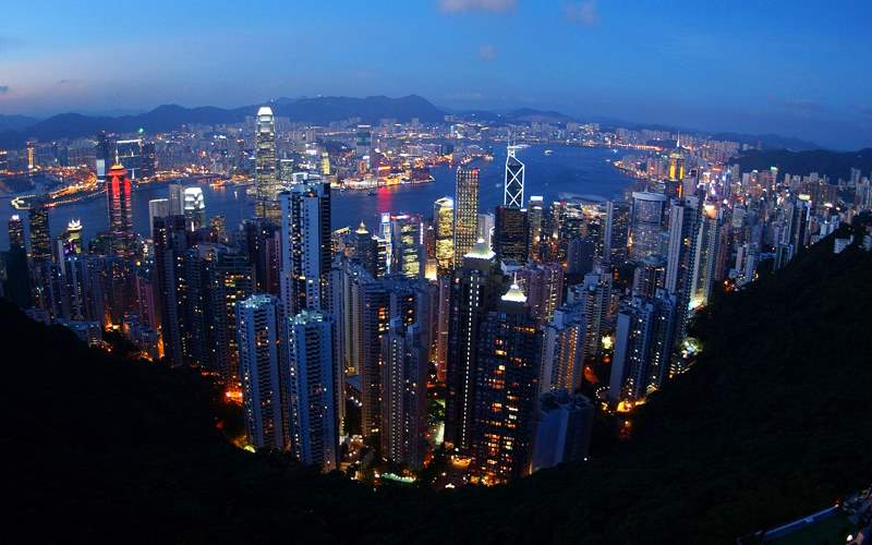Hong Kong Skyline from Lookout