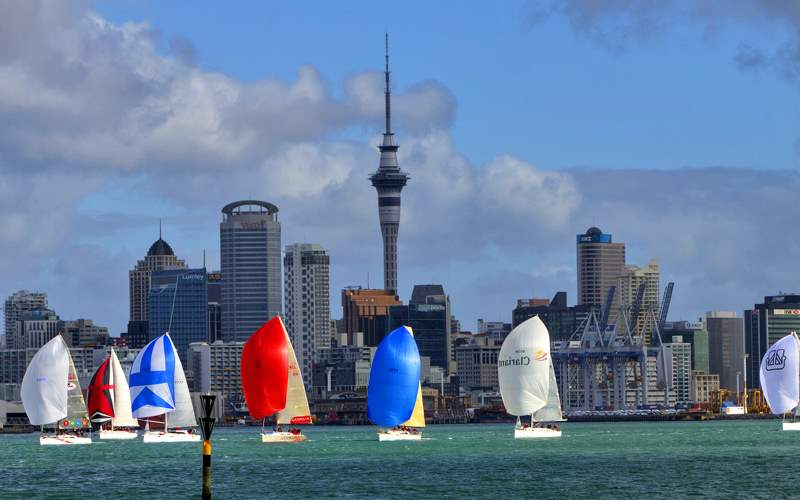 Sailing in Auckland, New Zealand