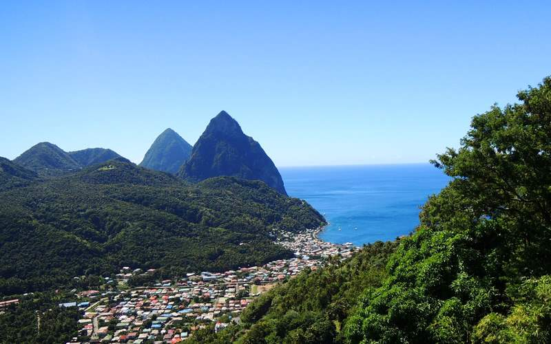 Panorama of St. Lucia